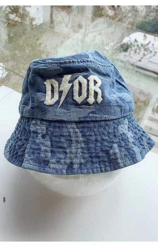 DARK BLUE - 'CAMO BUCKLE HAT' - INSPIRED DENIM BUCKLE HAT