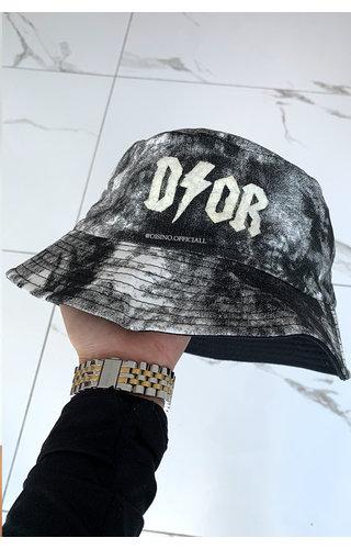 BLACK - 'TIE DYE BUCKET HAT' - INSPIRED DOR BUCKET HAT