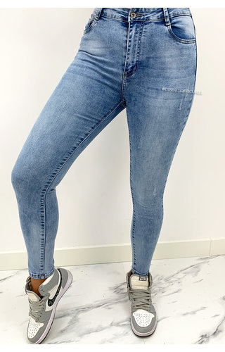 REDIAL - WASHED BLUE - PERFECT BASIC HIGH WAIST SKINNY JEANS - 5907