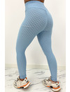 LIGHT BLUE - 'WAFFLE LEGGING' - PREMIUM QUALITY EXTRA BOOTY SPORTS LEGGING