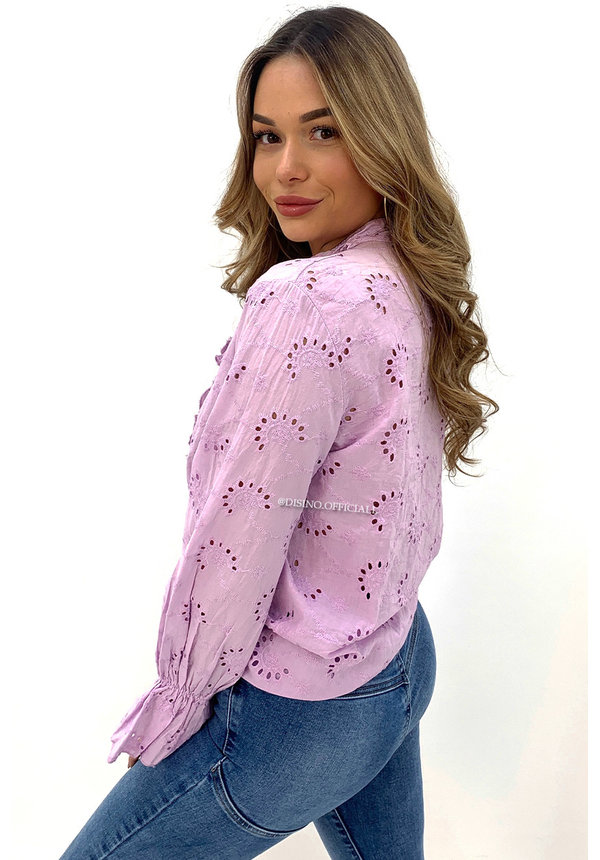 LILA - 'MANDY' - BRODERIE LACE RUFFLE BLOUSE