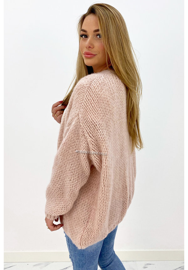 OLD PINK - 'ADRIANA' - COZY KNITTED BALLOON VEST