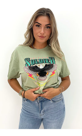 PINNED BY K PISTACHE - 'AMERICAN SOLDIER' - PREMIUM QUALITY OVERSIZED TEE