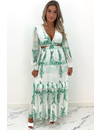 GREEN - 'MARBELLA' - SUMMER NIGHTS FLORAL DRESS