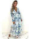 BLUE - 'MARBELLA' - SUMMER NIGHTS FLORAL DRESS