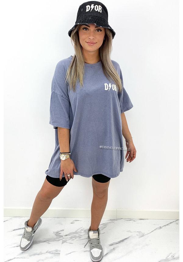 LILA - 'COZY THUNDER TEE' - PREMIUM QUALITY OVERSIZED SLOGAN TEE DRESS