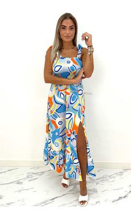 BLUE - 'VALENCIA' - INSPIRED MAXI DRESS