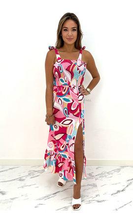 PINK - 'VALENCIA' - INSPIRED MAXI DRESS