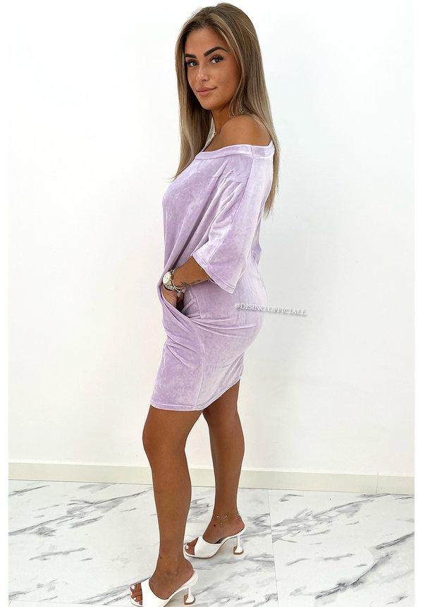 LILA - 'JASMINE DRESS' - COZY VELVET COMFY DRESS