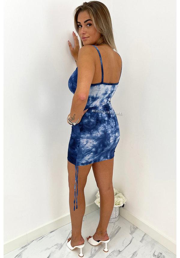 BLUE - 'NAYLA' - TIE DYE DRESS