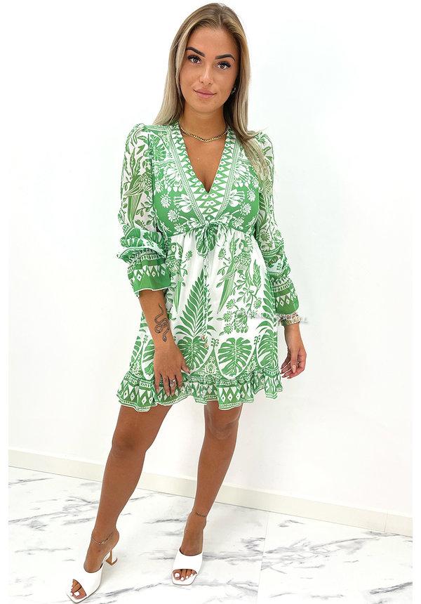 GREEN - 'BLISS' - PREMIUM QUALITY LONG SLEEVE DRESS