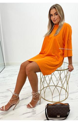 ORANGE - 'ESTÉE' - PREMIUM QUALITY BIG TEE DRESS