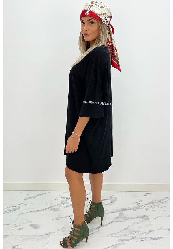 BLACK - 'ESTÉE' - PREMIUM QUALITY BIG TEE DRESS