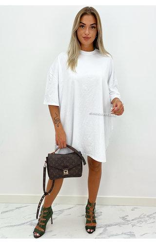 WHITE - 'ESTÉE' - PREMIUM QUALITY BIG TEE DRESS