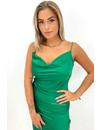 GUCCI GREEN - 'SELMA' - SATIN DROP DRESS