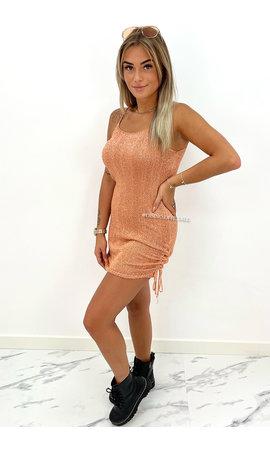 ORANGE - 'MILA-ELISE DRESS' - CABLE KNIT SPARKLE DRESS