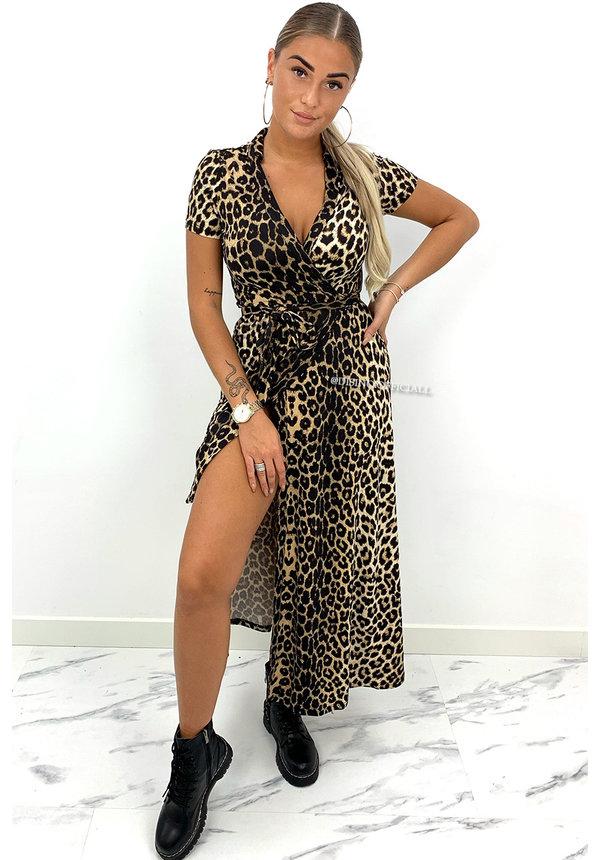 LEOPARD - 'FREYA MAXI' - TRAVEL WIKKEL MAXI DRESS
