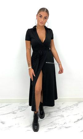 BLACK - 'FREYA MAXI' - TRAVEL WIKKEL MAXI DRESS