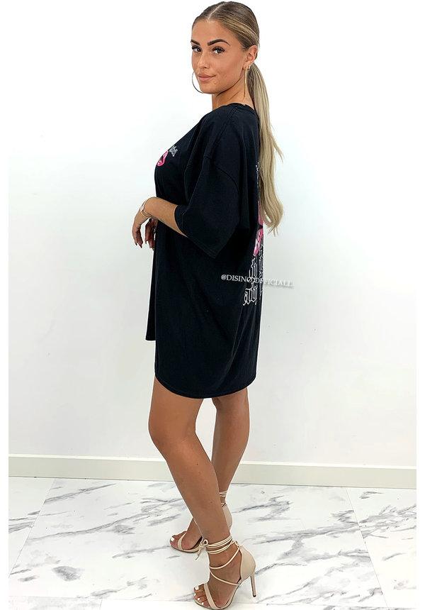 BLACK - 'BABYGIRL'  - PREMIUM QUALITY OVERSIZED TEE DRESS