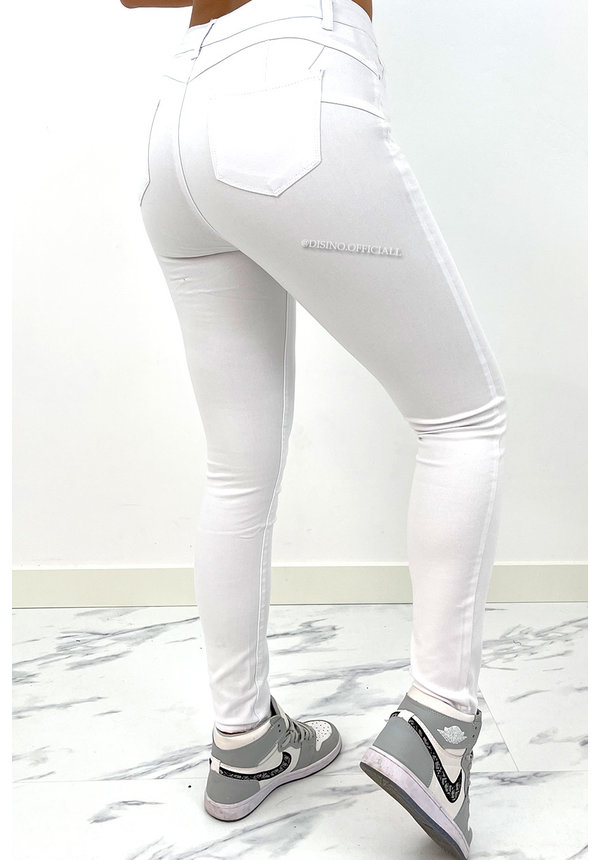 HELLO MISS - WHITE - THE BEST WHITE SKINNY JEANS - 002