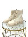 BEIGE - 'ROBINN' - INSPIRED SOCKET BIKERBOOTS