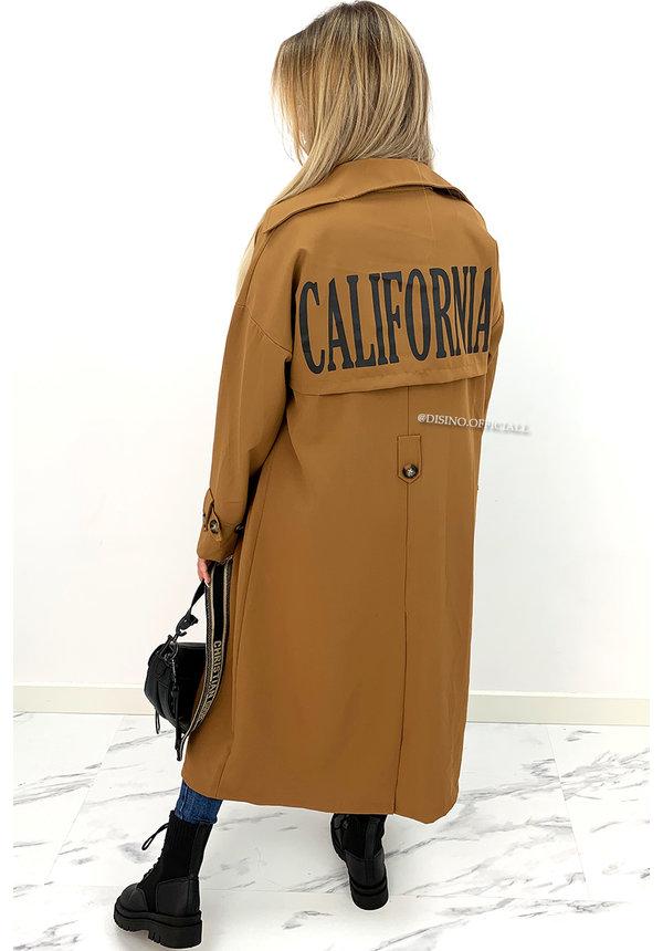 CAMEL - 'CALIFORNIA TRENCHCOAT' - LONGLINE INSPIRED TRENCHCOAT