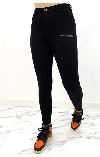 REDIAL - BLACK - PERFECT PUSH UP SKINNY JEANS - 6885