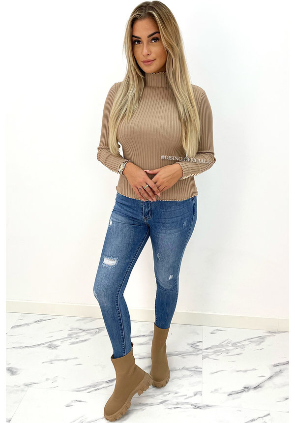 REDIAL -BLUE - PERFECT HIGH WAIST SKINNY JEANS - 5975