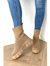 NUDE - 'AMEY' - INSPIRED SOCKET BOOTS