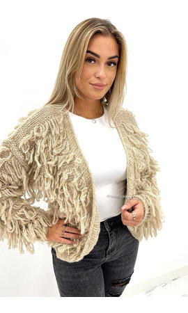 BEIGE - 'PHOEBE' - COZY SOFT KNITTED VEST