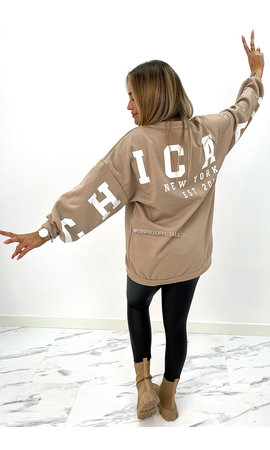 BEIGE - 'CHICAGO SWEATER' - INSPIRED OVERSIZED SWEATER