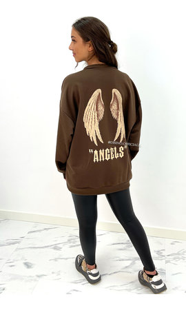 CHOCO - 'ANGEL ON MY BACK SWEATER' - OVERSIZED COMFY SWEATER