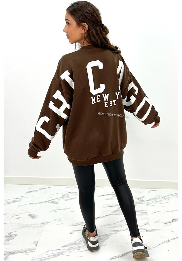 CHOCO - 'CHICAGO SWEATER' - INSPIRED COMFY OVERSIZED SWEATER