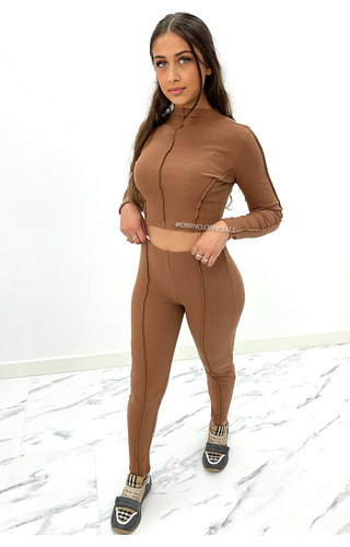 BROWN - 'AMBER SET' - INSIDE OUT TWO PIECE SET