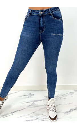 REDIAL - BLUE - PERFECT HIGH WAIST SKINNY JEANS - 5989