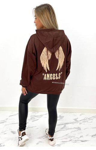 CHOCO - 'ANGEL ON MY BACK HOODIE' - OVERSIZED COMFY HOODIE