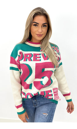 GREEN - 'FOREVER 25' - PREMIUM QUALITY OVERSIZED KNIT