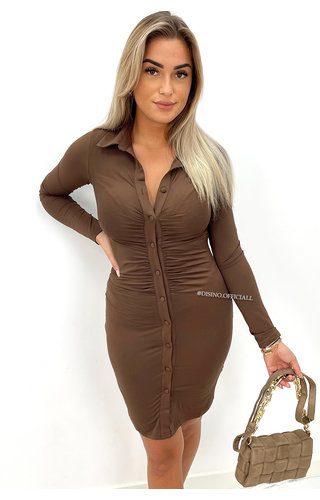 CHOCO - 'CHRISS' - PERFECT FIT BUTTON UP DRESS