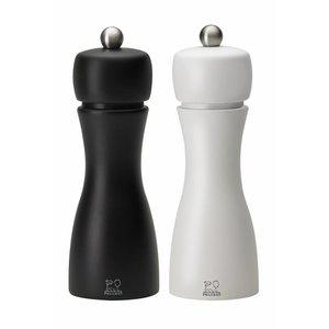 Peugeot Set peper- en zoutmolen Tahiti, zwart-wit