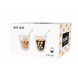 Zak! Designs Dubbelwandige koffie beker met lepel