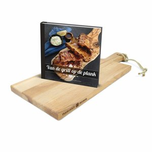 "Bowls and Dishes Set serveerplank + boek ""van de grill op de plank"""