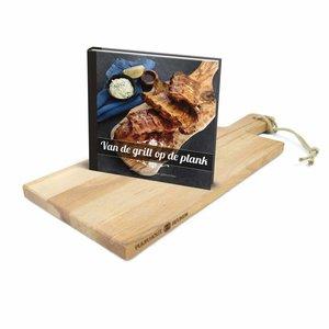 """Bowls and Dishes Set serveerplank + boek """"van de grill op de plank"""""""