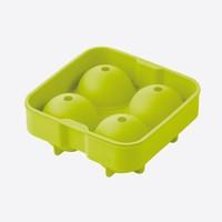 Point Virgule Ijsballenvorm uit silicone voor 4 ijsballen groen