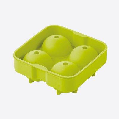 Point Virgule Ijsballenvorm silicone voor 4 ijsballen van 6 cm groen