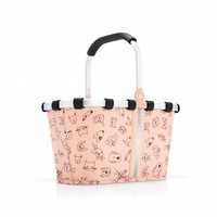 Reisenthel Carrybag XS kids cats and dogs roze