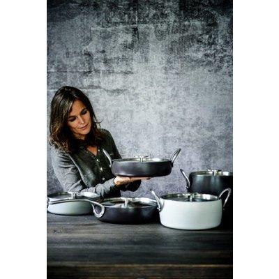 Pure Cookware Braadpan anti-kleef forged alu 24 cm stone grey