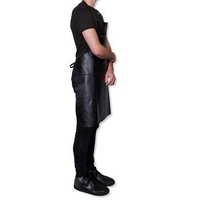 DutchDeluxes Schort met rits zwart, bbq style