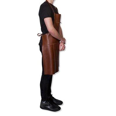 DutchDeluxes Schort met rits classic brown, bbq style