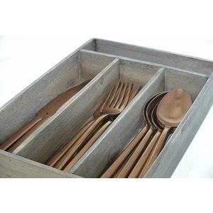Serax  Bestekset koper, 6 personen in houten box