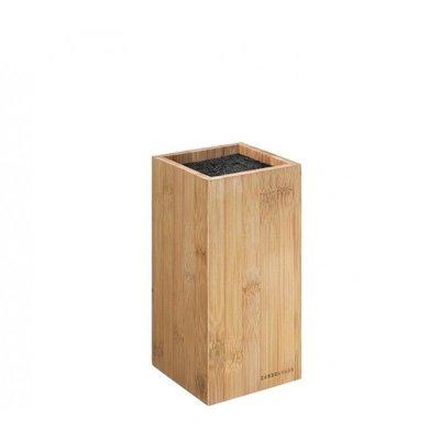 Zassenhaus Messenblok, hoekig bamboe 12 x 12 x 23 cm